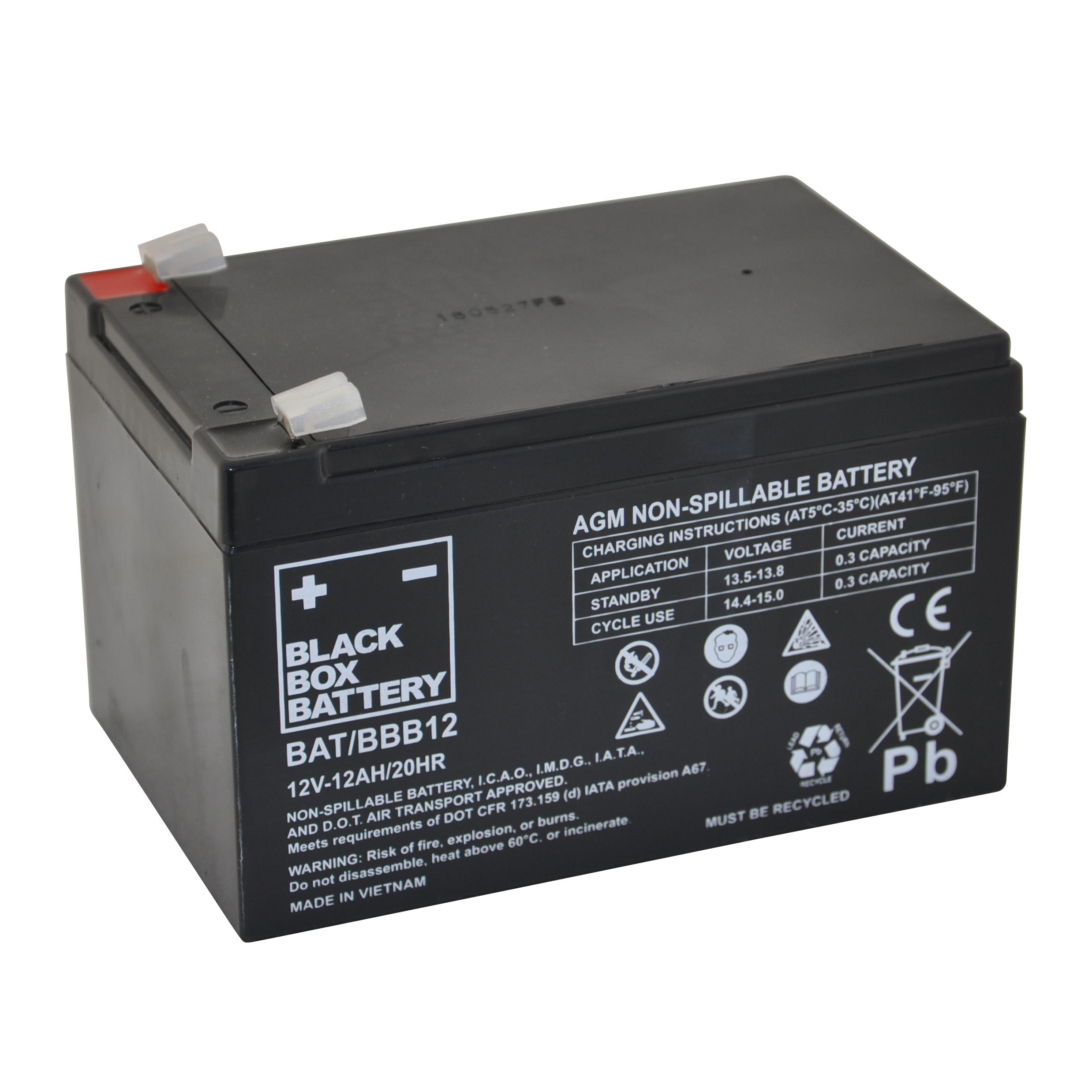12ah Black Box Agm Battery Flexel Mobility