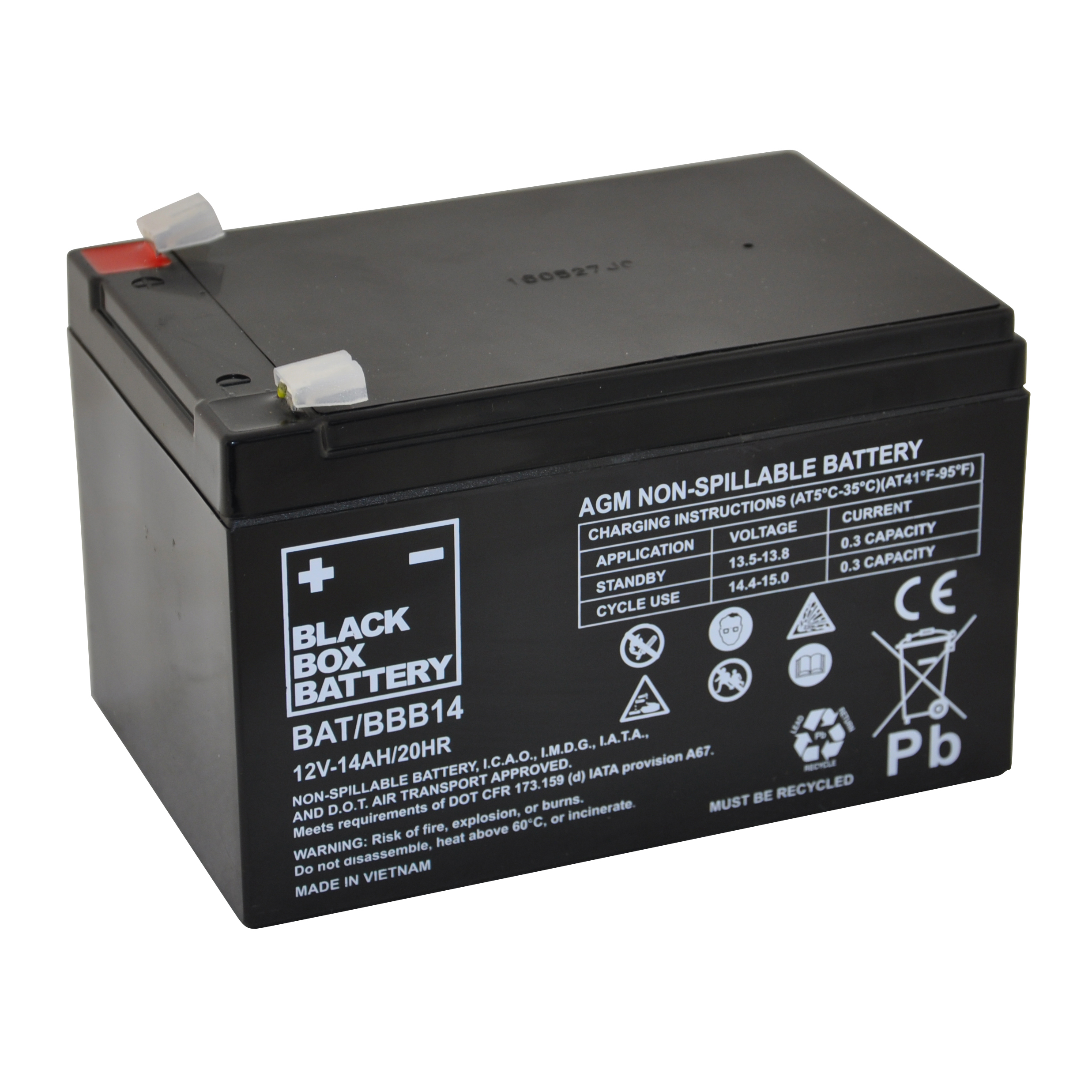 14ah Black Box Agm Battery Flexel Mobility
