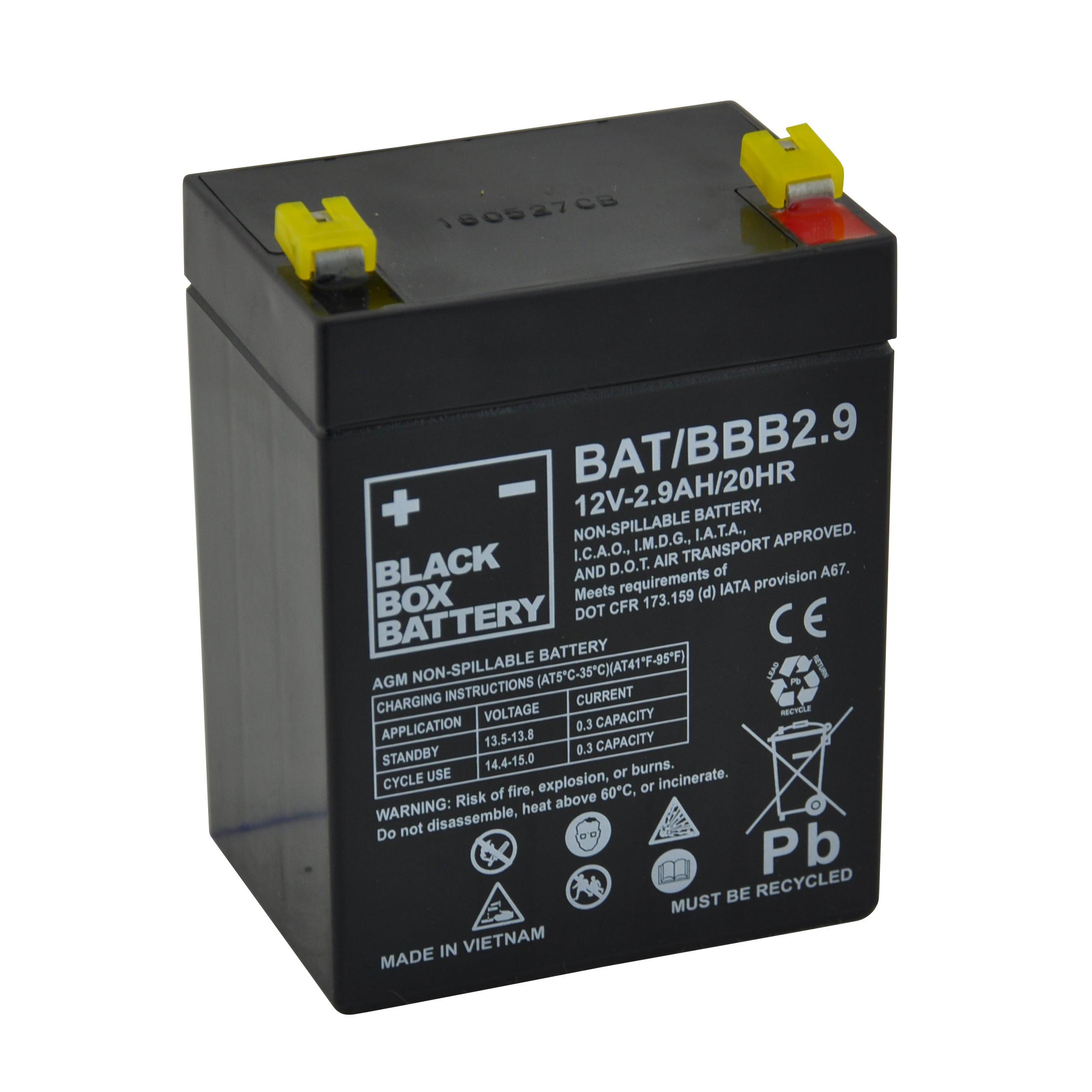 2 9ah Black Box Agm Battery Flexel Mobility