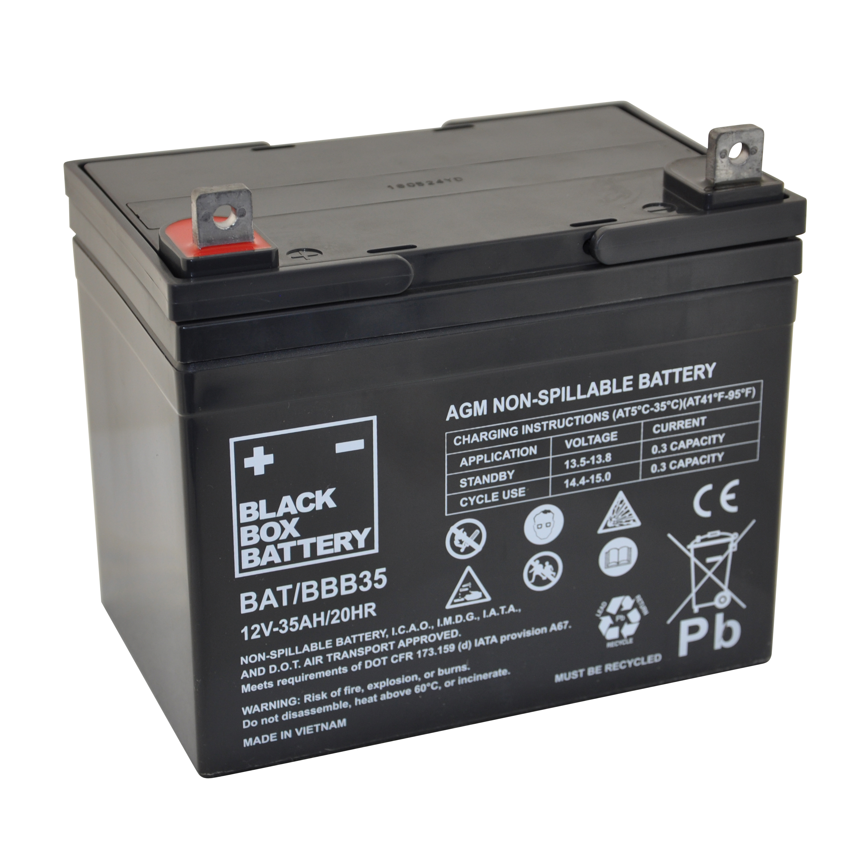35ah Black Box Agm Battery Flexel Mobility