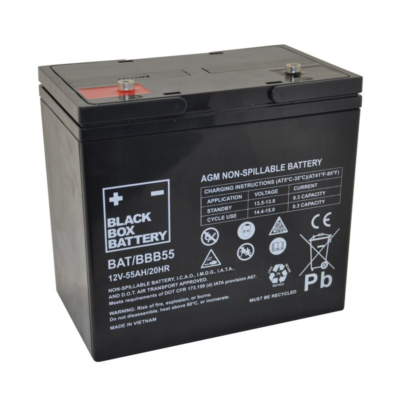 55ah black box agm battery flexel mobility. Black Bedroom Furniture Sets. Home Design Ideas
